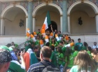 Irish Fans Drinking in Poznan town square